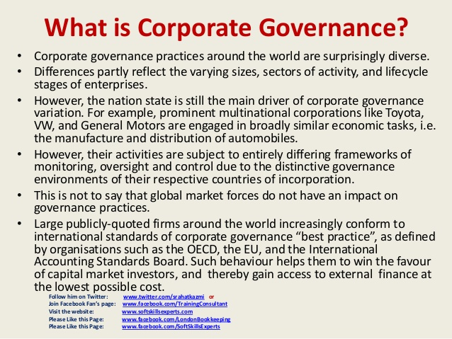 corporate governance principles