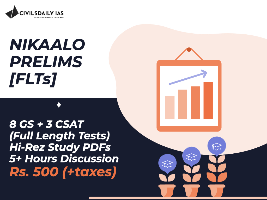 Civilsdaily Nikaalo Prelims Full Length Mock Test UPSC Prelims 2020