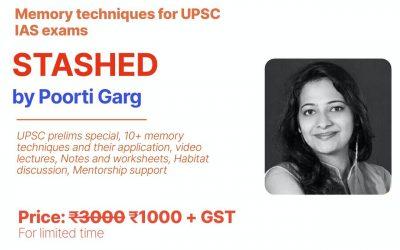 Stashed: Memory techniques for UPSC IAS exam