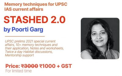 Stashed 2.0 by Poorti Garg- Memory techniques for UPSC IAS current affairs