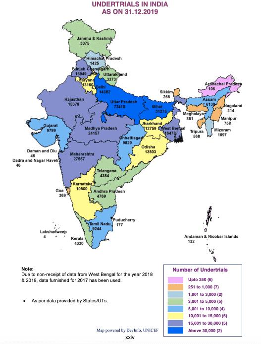 data: Undertrials in India